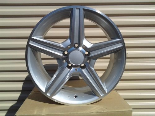 "18"" AMG 810 STYLE WHEELS SILVER MACHINED FACE 50MM"
